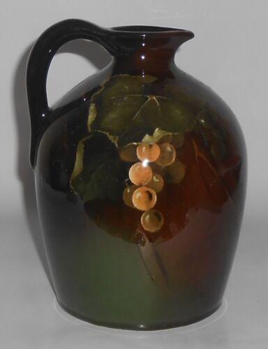 Owens Art Pottery Lightweight Frank Ferrell Grape Decorated Jug