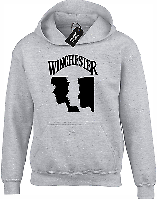 Winchester Faces Hoody Hoodie Supernatural Brothers Sam Dean Bobby Castiel Top - gildan - ebay.co.uk
