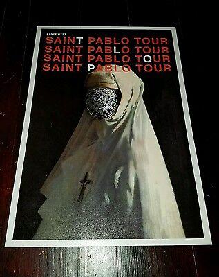 Kanye West poster Saint Pablo Tour Poster Yeezus poster Hip Hop Rap poster