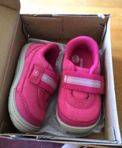 """Toddler Girl's Stride Rite """"Jessie"""" Pink Sneakers Size"""