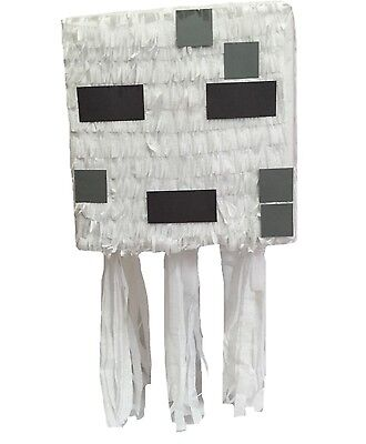 APINATA4U White Ghost Pixel Pinata Video Game Party Favor