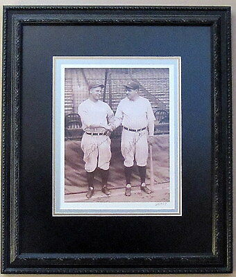 Babe Ruth Lou Gehrig Signed Reprint Framed 1927 Yankees Photo Limited Edition