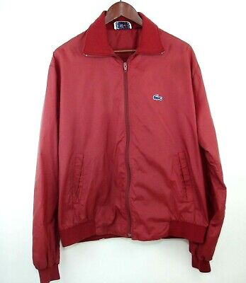 Vtg Izod Lacoste Men's XL - Maroon Red Lightweight Windbreaker Jacket Coat