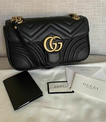 Gucci GG Marmont Small Leather Black Shoulder Bag