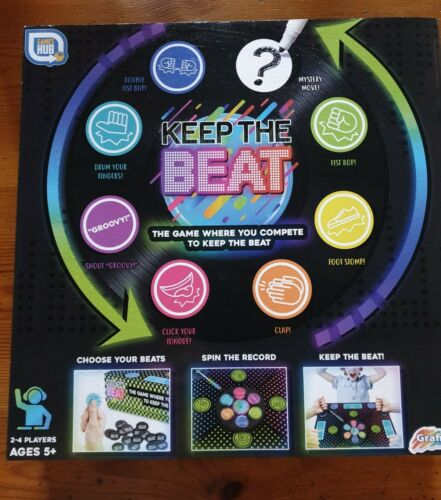 GRAFIX GAMES HUB KEEP THE BEAT FAMILY CHILDREN GAME 2-4 PLAYERS 5+ BRAND NEW