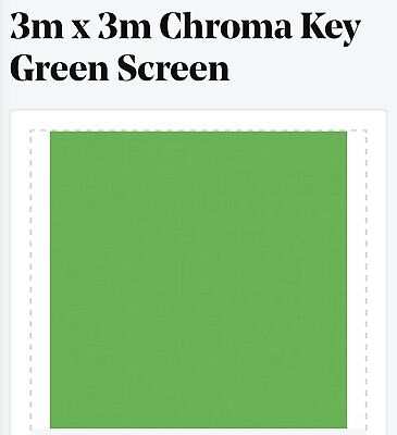 Green screen Chroma Key Green 3m X 3m