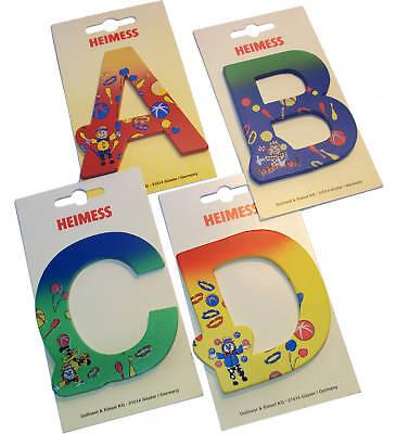 Holzbuchstaben bunte Tür-Holz-Buchstaben für Kinder-Name, HEIMESS *A - Z