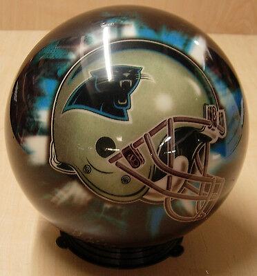 = 10 2006 Helmet Style Bruns Viz-a-ball Nfl Carolina Panthers Bowling Ball