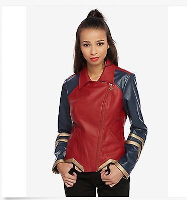 Wonder Woman Faux Leather Moto Jacket Size Small   Medium  licensed nwt