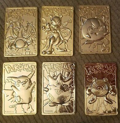 pokemon 23k gold plated trading card set