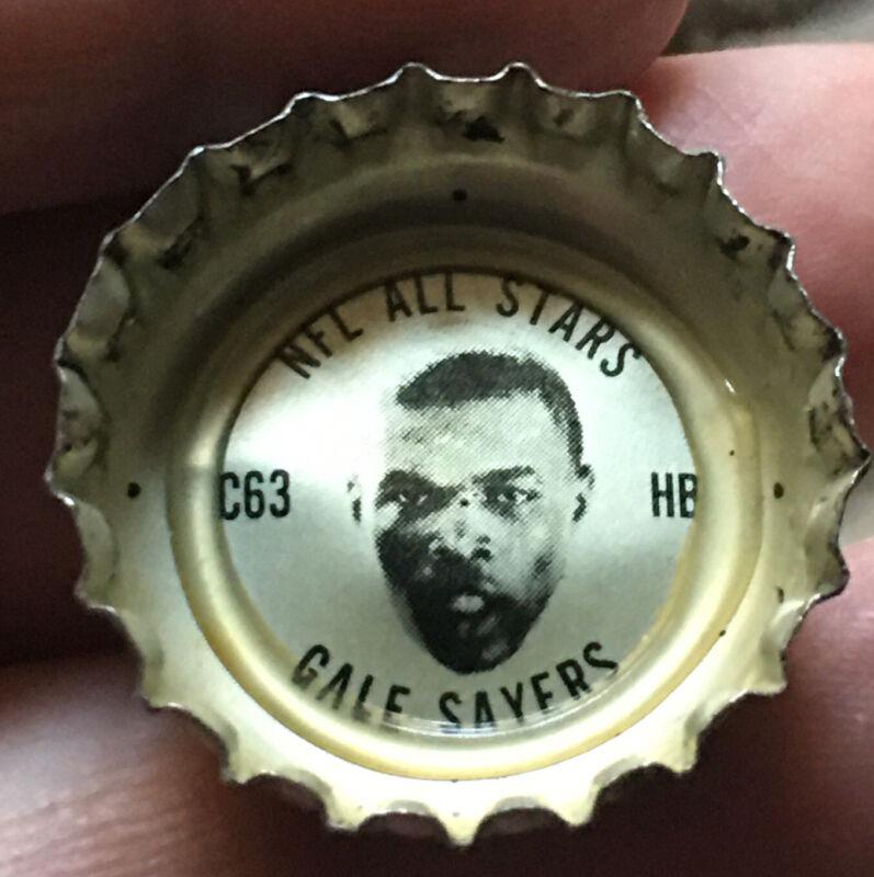 1966 Gale Sayers Coke Bottle Cap NFL All Stars Very Good Condition HOF'er