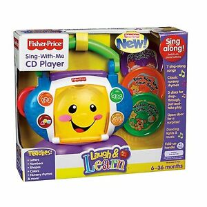 Fisher-Price-Laugh-and-N-Learn-Musical-Learning-Sing-With-Me-CD-Player-NEW-NIB