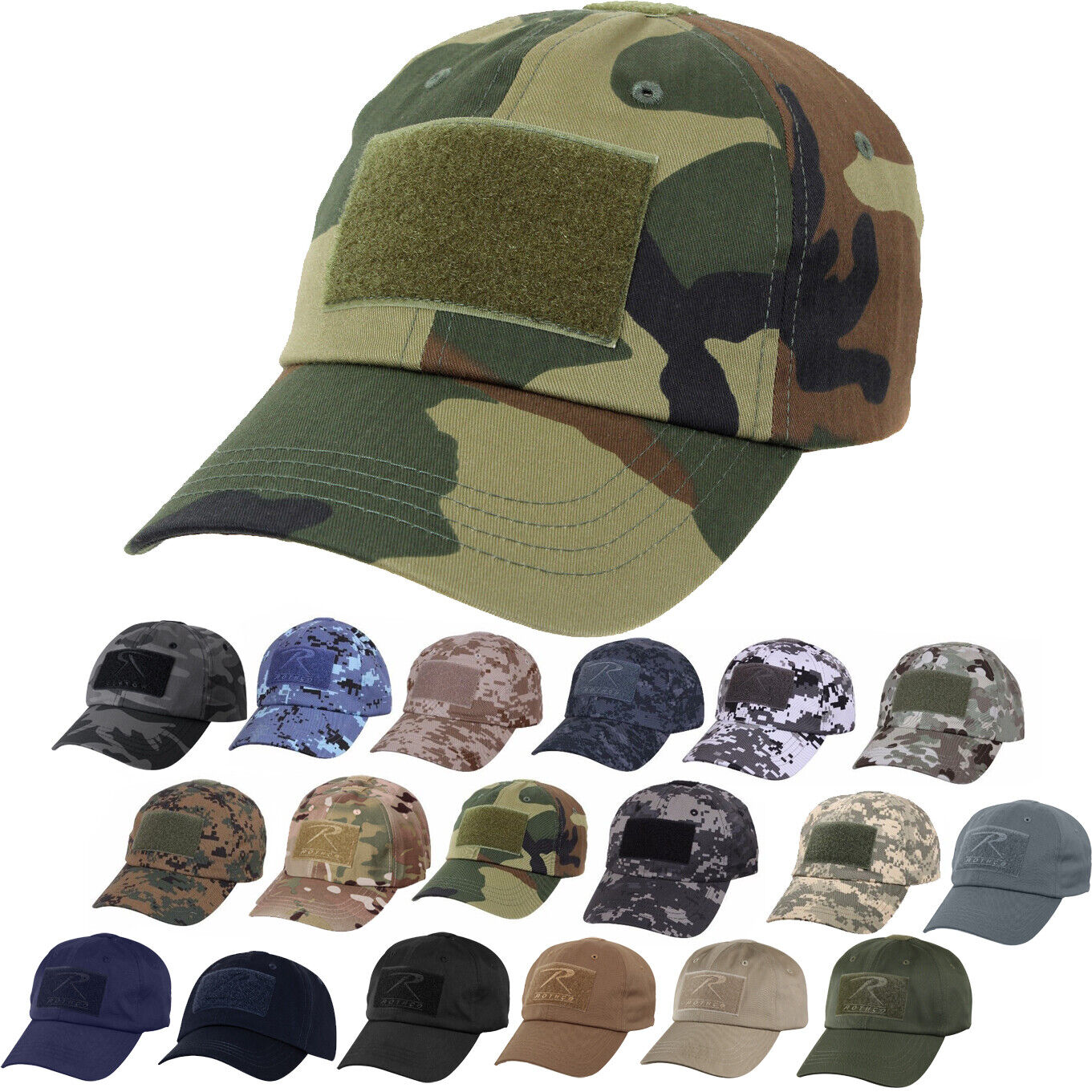 Tactical Operator Cap Adjustable Military Contractor Army Patch Camo Hat Clothing, Shoes & Accessories