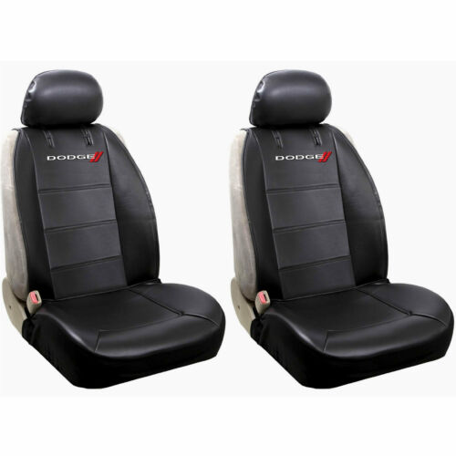 DODGE ELITE ORIGINAL BLACK SYNTHETIC LEATHER SIDE LESS SEAT COVERS AIRBAG READY