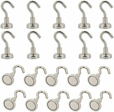 Magnetic Hooks Super Magnets With Neodymium Rare Earth For Hanging Pack Of 20