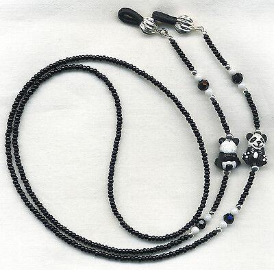 PANDA LOVERS Eyeglass~Glasses Holder Necklace Leash Chain *CUSTOM LENGTH*