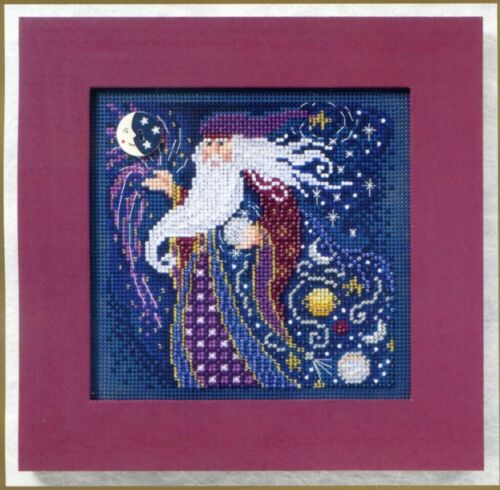 Wizard Beaded Cross Stitch Kit Mill Hill 2011 Buttons & Bead