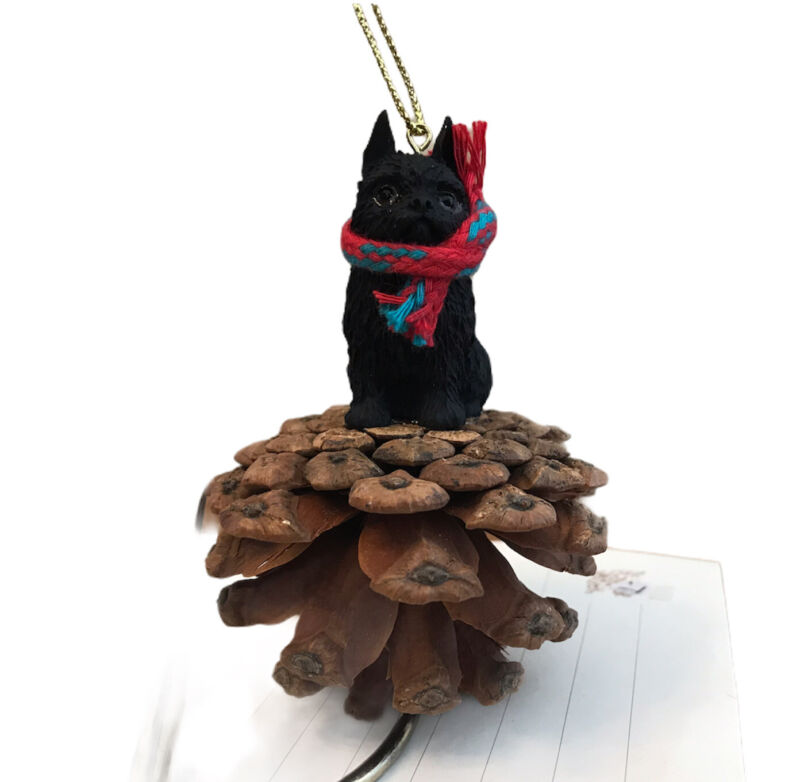 Black Brussels Griffon Christmas Ornament Dog Pinecone Ornament New Gift