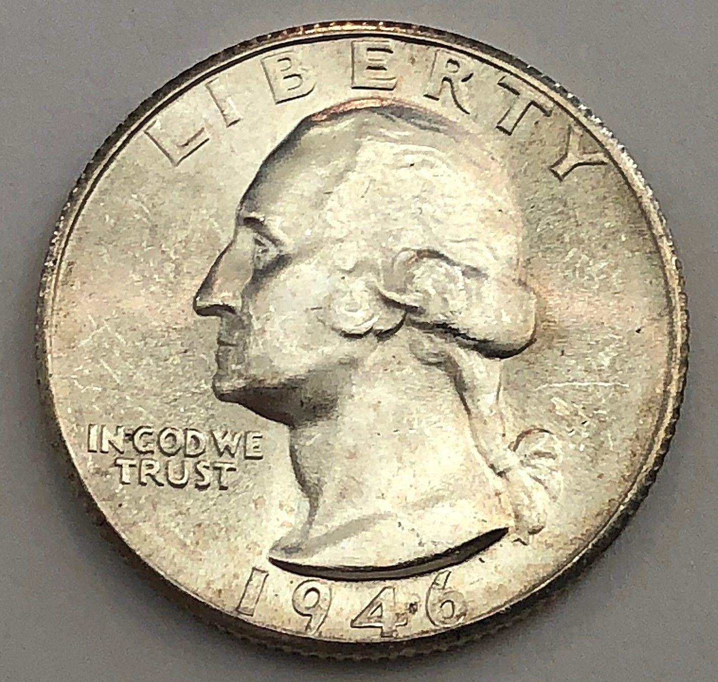 1946-S/S WASHINGTON SILVER QUARTER IN HIGH GRADE - FREE SHIPPING  - $14.95