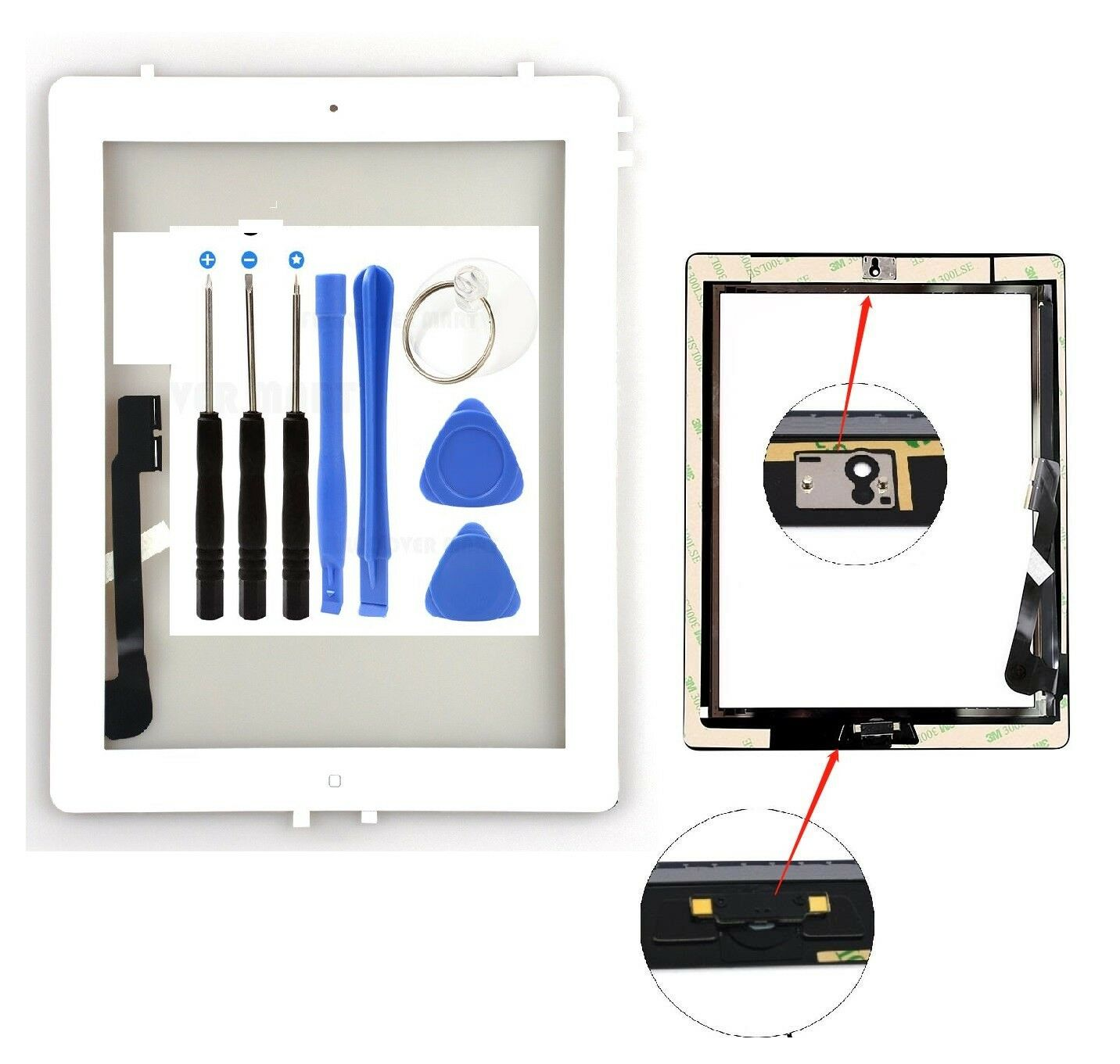Touch Screen Glass Digitizer replacement for iPad 3 A1416 A1403 A1430 White Computers/Tablets & Networking