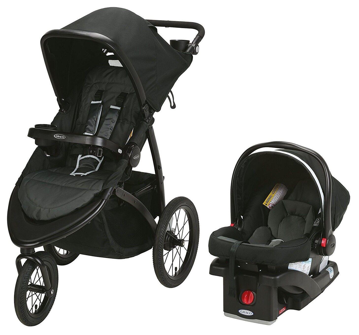 Graco Baby RoadMaster Jogger Travel System Stroller w/ Infan