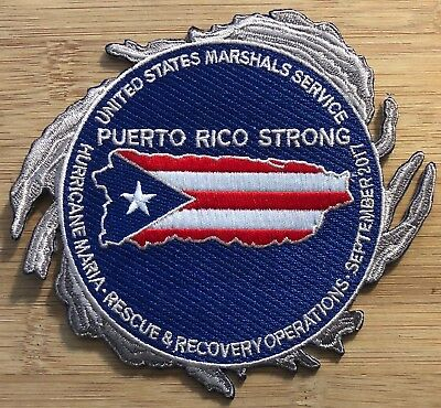 Us Marshals Service   Hurricane Maria Rescue   Recovery Genuine Kokopelli Patch