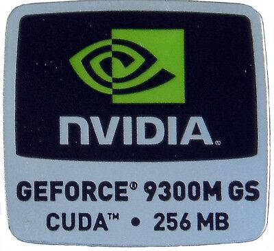 NVIDIA GEFORCE 9300M GS CUDA 256MB  STICKER LOGO AUFKLEBER 18x18mm (333) gebraucht kaufen  Versand nach Germany