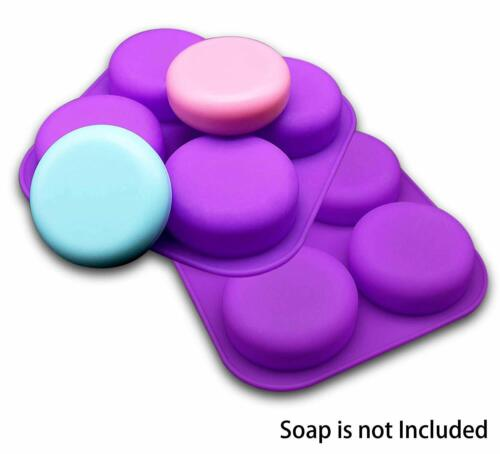 2 Pcs Glossy Silicone Molds 4 Cavity Round Shaped Mold for DIY Soap Making