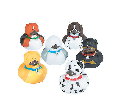 12 DOG Rubber Ducks party favors Cake Toppers Puppy Animal Lover - Rubber Duck Party Supplies