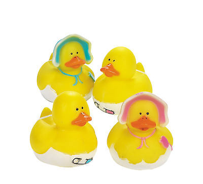 12 Baby Shower Rubber Ducks party favors Cake Toppers Boy or Girl](Rubber Duck Baby Shower Cake)