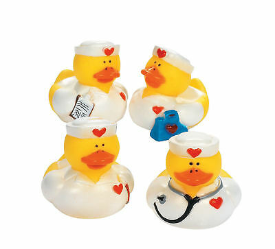 12 Nurse Rubber Ducks party favors Cake Toppers Medical Profession - 16 Party