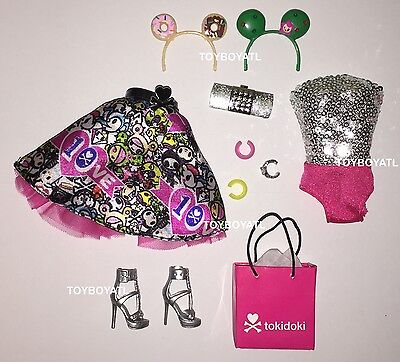 Barbie Model Muse 10th Anniversary Tokidoki Fashion Outfit Clothes & Shoes NEW