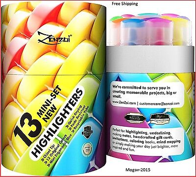 Highlighters Markers Assorted Colors Highlighter Marker Pens Big Pack Of 13