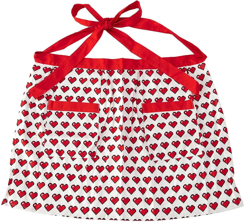 ROSANNA PANSINO Half Apron Heart Print Waist Apron Baking Accs. & Cake Decorating