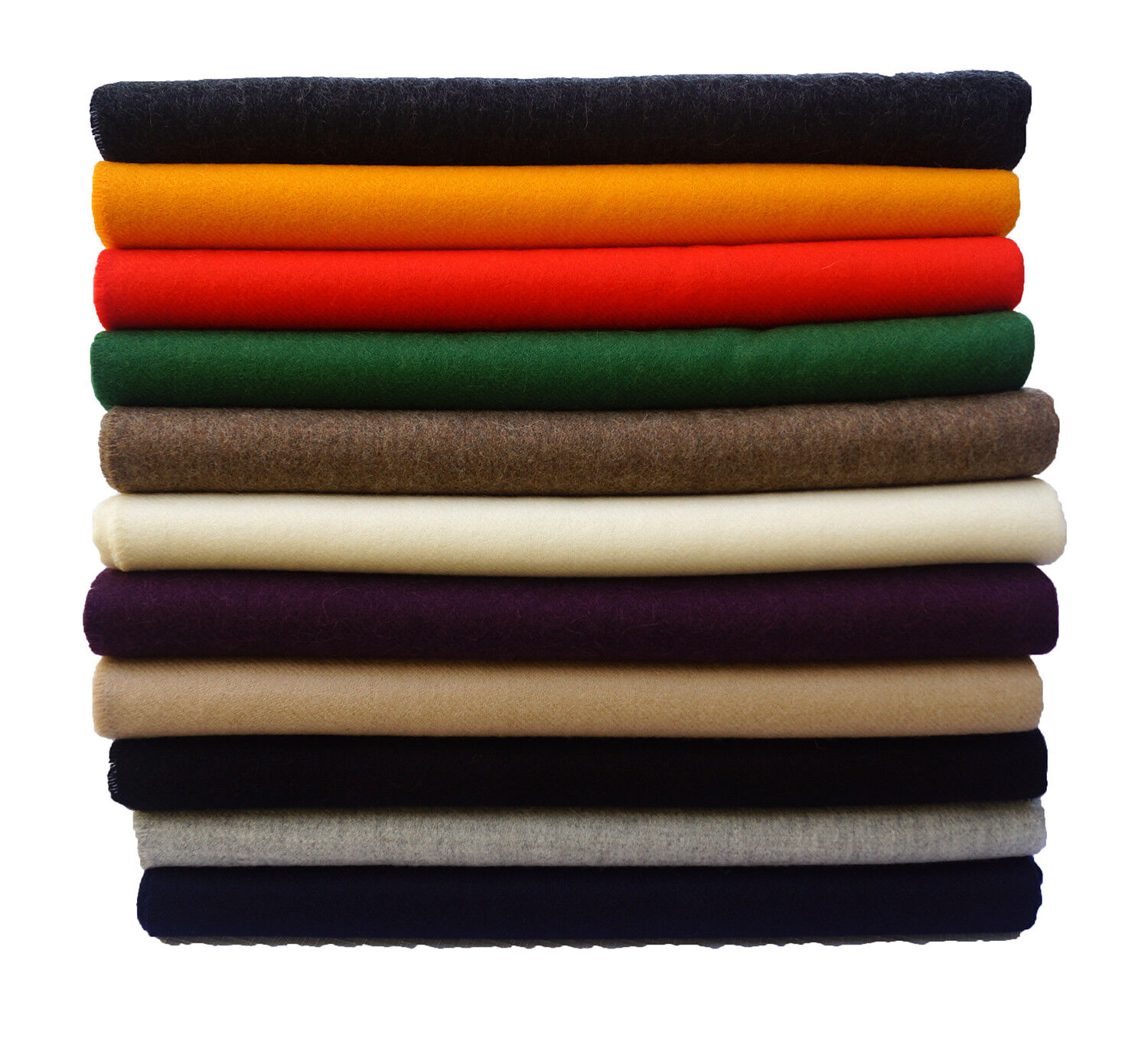 100% Baby Alpaca Throw Blankets - Solid Color II Throws, All