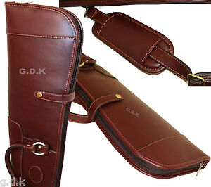 GUARDIAN, LEATHER SHOTGUN SLIP, FULL LENGTH ZIP, LEATHER GUN CASE, 45-50