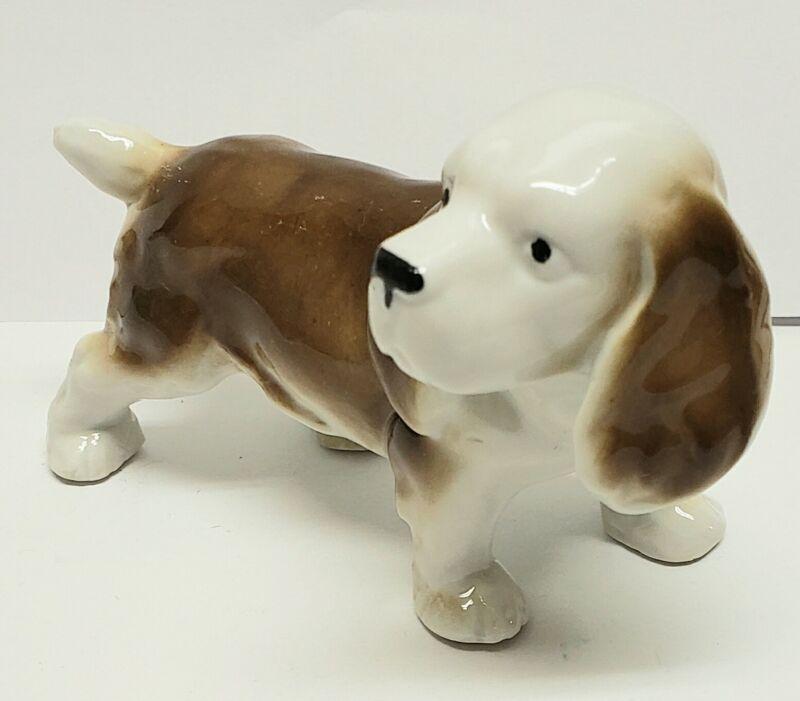 Porcelain Beagle Dog Puppy Figurine