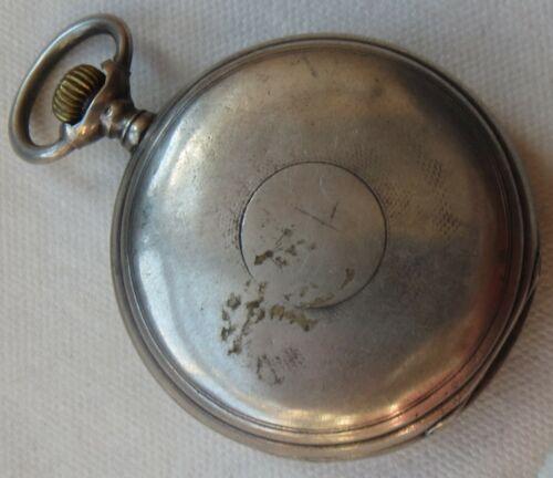 Longines Pocket Watch silver hunter case 49 mm. in diameter enamel dial