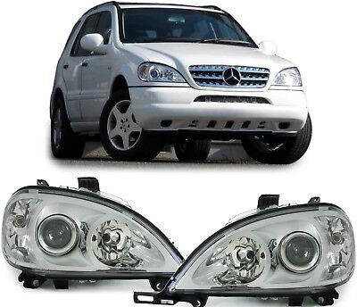 Klarglas Scheinwerfer H7 H7 Facelift Optik für Mercedes ML W163 98-01