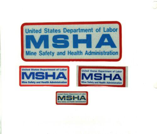 NICE SET OF 4  MSHA-MINE SAFETY & HEALTH  COAL MINING STICKERS # 66