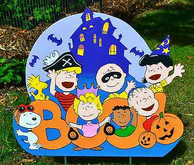 Halloween Yard Art (lawn stake Halloween Peanuts Gang Ghost yard art yard)