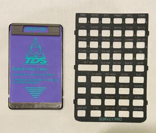 TDS SURVEY PRO CARD FOR HP 48GX CALCULATOR HEWLETT PACKARD