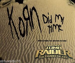 KORN-Did-My-Time-OZ-CD-3-Track-EP-2003-Tomb-Raider