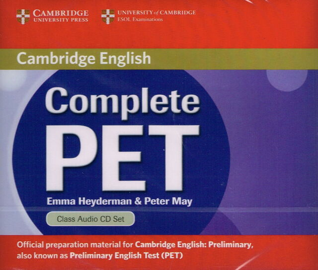 Cambridge COMPLETE PET Class Audio CD Set (2) Heydermann & May @NEW & SEALED@