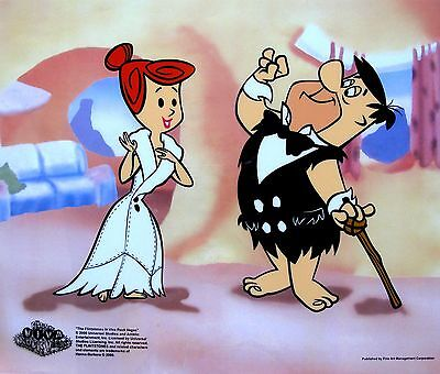 The Flintstones Fred & Wilma's Date Animation Sericel Cel Viva Rock Vegas