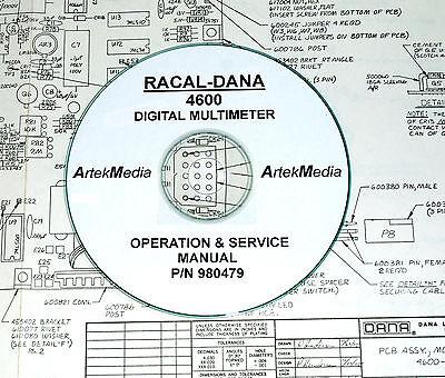 Racal-dana 4600 Digital Multimeter Instruction Operating Service Manual
