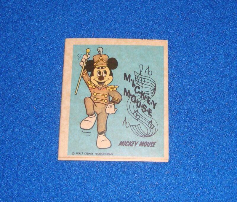 Vintage Disney Mickey Mouse Sticker Unused
