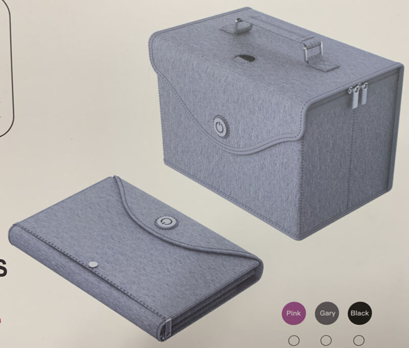 UVC Disinfection Bag Foldable Travel LED USB UV Sterilizer Bag Sterilizer Box
