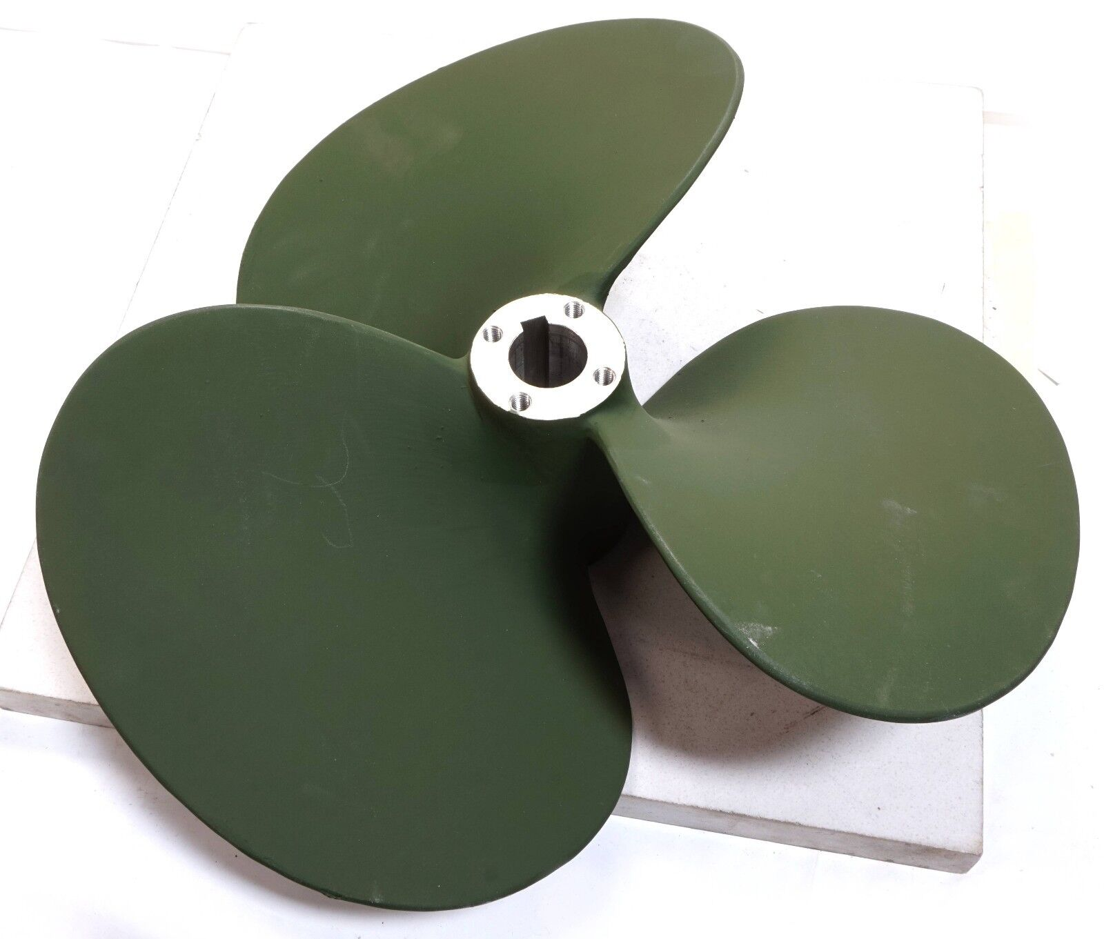 """15-1/2"""" Marine waterborne Propeller Fixed Pitch 3 Blade Left Hand 1-1/2"""" Bore"""