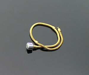 22cm-Yellow-Gold-Silver-Plated-Mens-Womens-Thick-Snake-Bracelet-8-5-inches